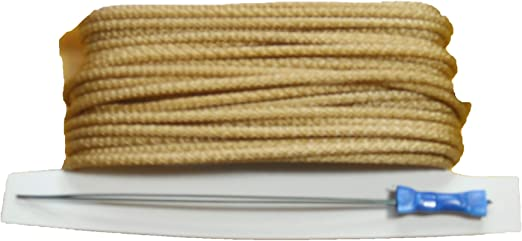 Window Blind Cord Blind Cords with Cord Threader 100 Feet of 2.7 mm White