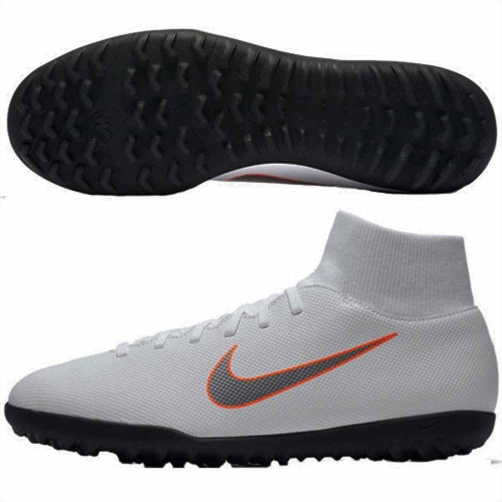 Nike Superflyx 6 Club TF, Zapatillas de Fútbol Unisex Adulto 8,5 White/Chrome-total Orange-