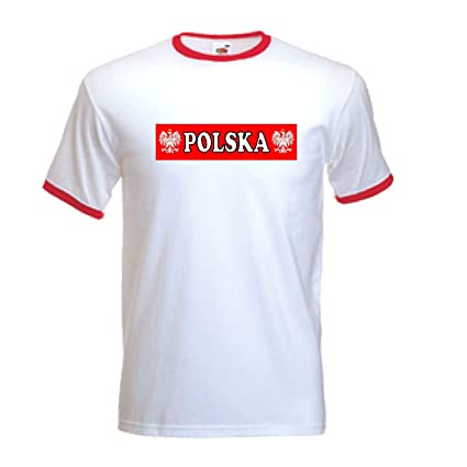 Polonia Polaco Pulido F?tbol Nacional Equipo Blanco Camiseta (Todas Las Tallas