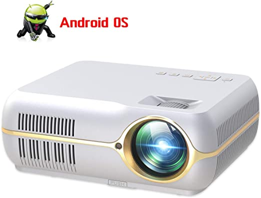 AI LIFE Proyector Full HD con 5500 Lux Proyector de Video ...