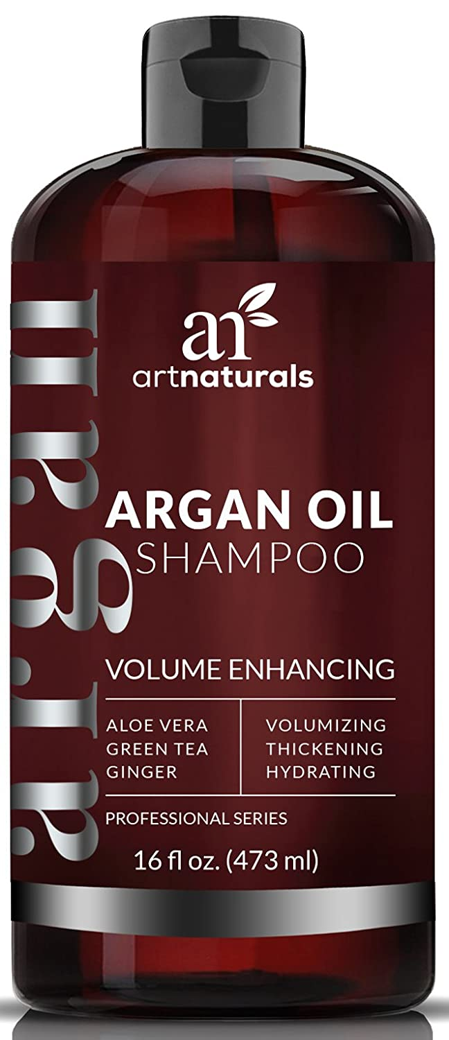 ArtNaturals Argan-Oil Volume Enhancing Shampoo – Sulfate Free - Treatment for Premature Hair Loss, Thinning and First Signs of Balding - Men and Women -16 oz. ANHA-1642-VE