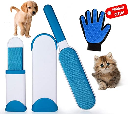 E.C   Cepillo Mágico para Perros y Gatos   Fácil Remoción del Pelo ...