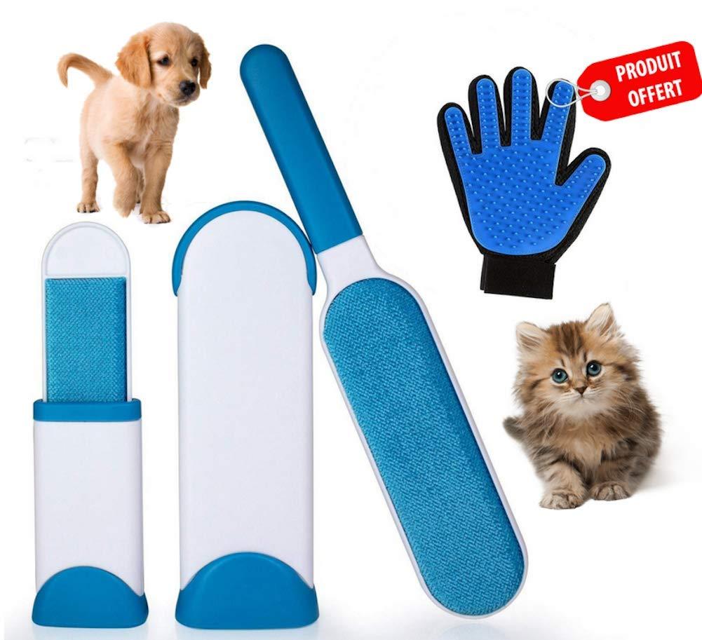 E.C | Spazzola magica per cani e gatti | Facile rimozione dei peli di animali domestici | Pulizia rapida | Depilazione e rimozione dei peli | Perfetta per cani e gatti | Riutilizzabile E.CHAFFAUD