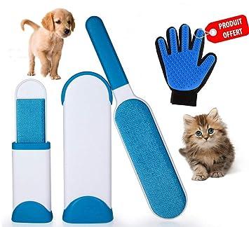 EC | Cepillo Mágico para Perros y Gatos | Fácil Remoción del Pelo de Mascotas | Limpieza Rápida | Removedor de Pelo y Pelusa | Perfecto para Perros y ...