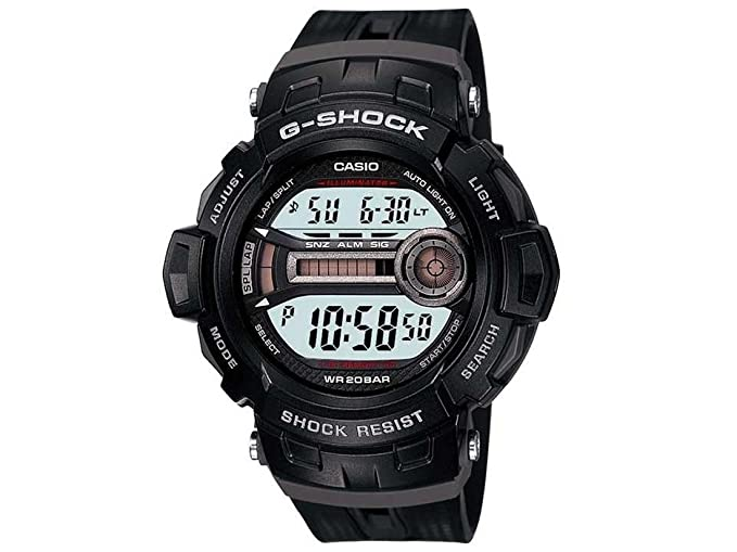 CASIO Gd-200-1Er - Reloj de caballero de cuarzo, correa de resina color gris: Amazon.es: Relojes