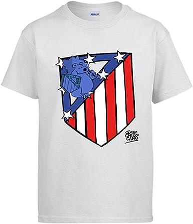 Diver Camisetas Camiseta Atlético de Madrid Nuevo Escudo: Amazon.es: Ropa y accesorios