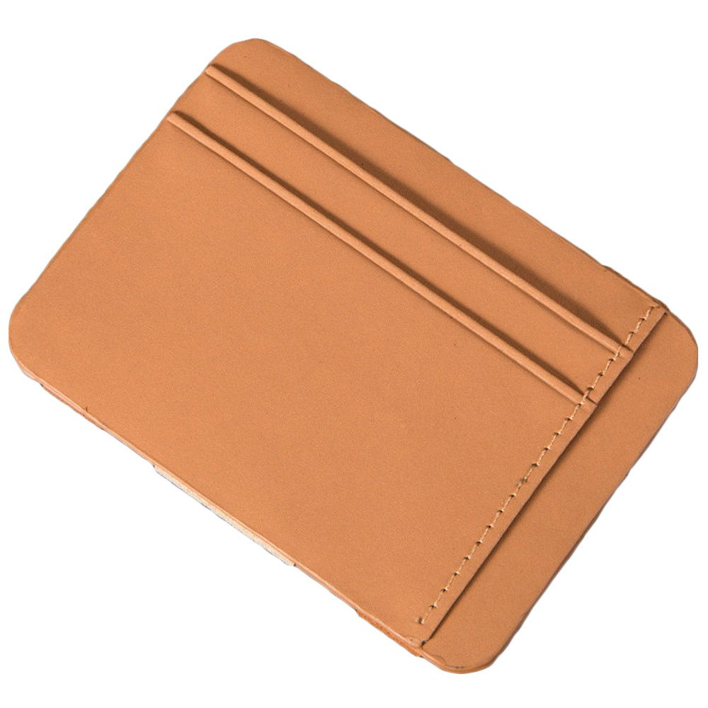 FarJing Mens Bifold Business Leather Zipper Wallet ID Credit Card Hand Holding Ultra-thin Coin Purse(One Size,Coffee)