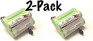 2-Pack ZZcell Battery for Bearcat Sportcat BP120 / BP150 / BP180 / BP250, Uniden BBTY0356001 1200 mAh