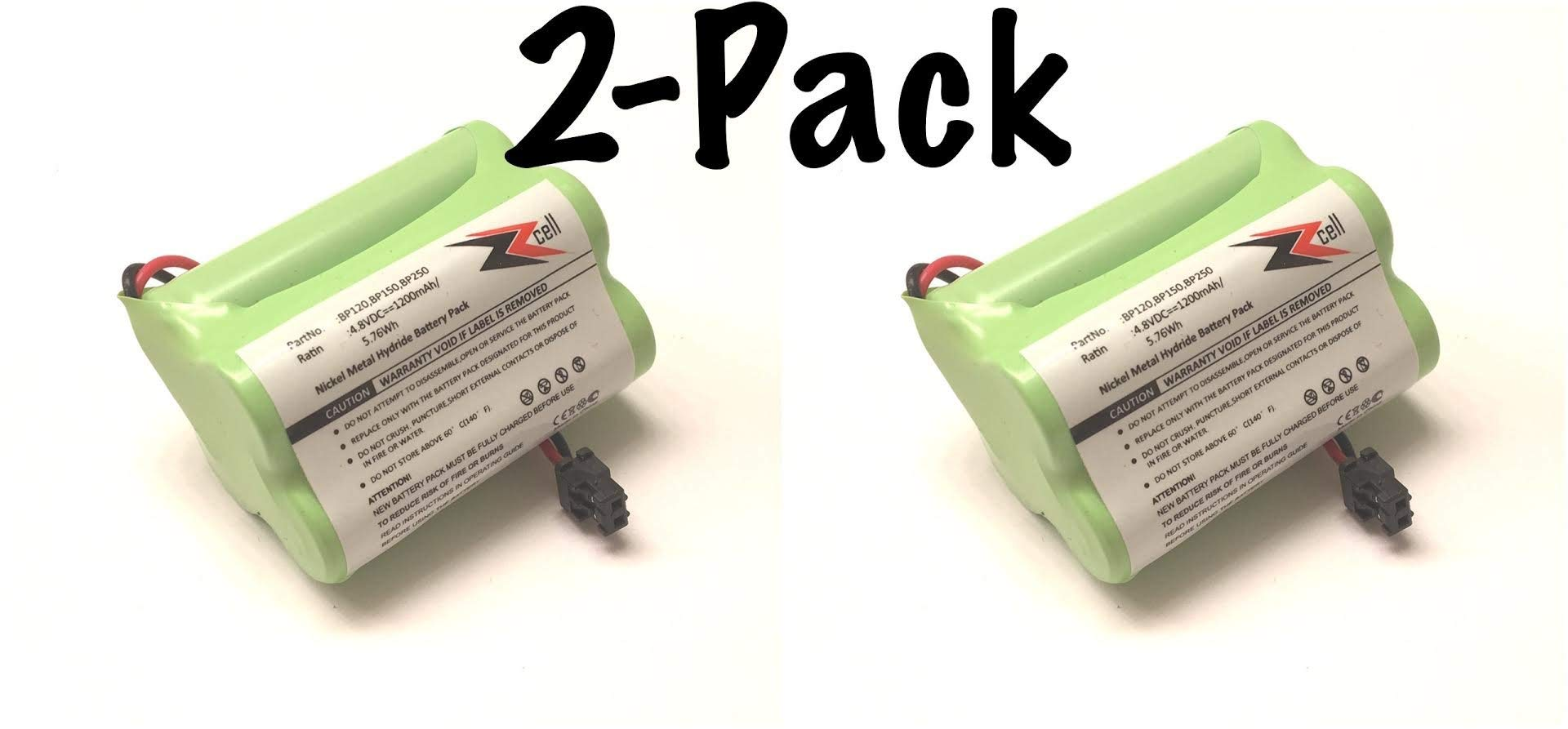 2-Pack ZZcell Battery For Bearcat Sportcat BP120 / BP150 / BP180 / BP250, Uniden BBTY0356001 1200 mAh by ZZcell
