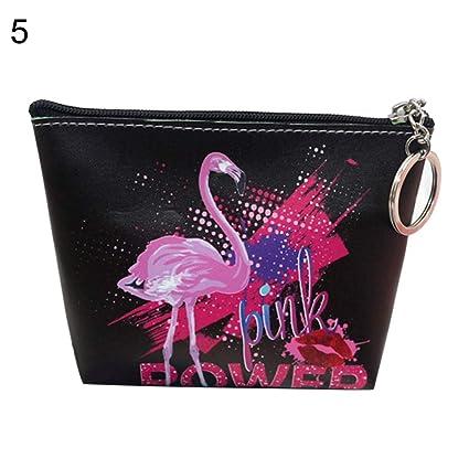 P12cheng - Monedero para niña, Fashion Flamingo Women Change ...