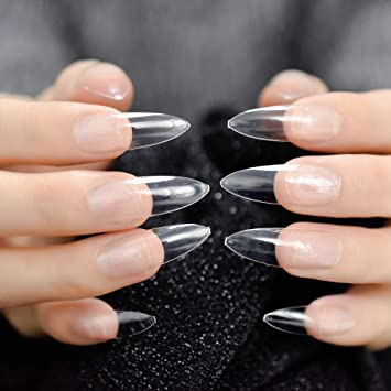 EchiQ - Uñas postizas extra largas y afiladas para dedos ...