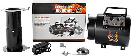 Perfect Draft BBQ Fan Air Blower – Barbecue Smoker Fan, Grill Blower Fire Starter