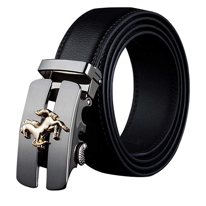 Cinturones Negros Hombres Cuero Real/Cinturones Piel Vaca ...