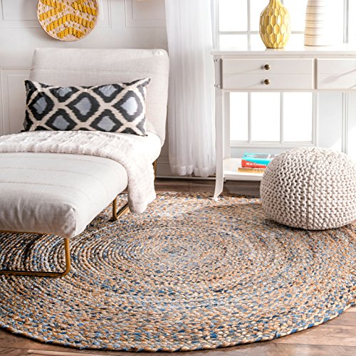 6 round rug fiber jute nuloom mgdr01a hand braided eliz jute rug 6 round amazoncom round