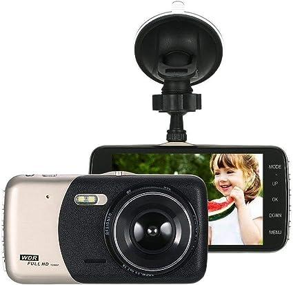 4'' LCD IPS Dual Lens Auto Car Dash Cam Full HD 1080P Dashboard Camera 170° DVR