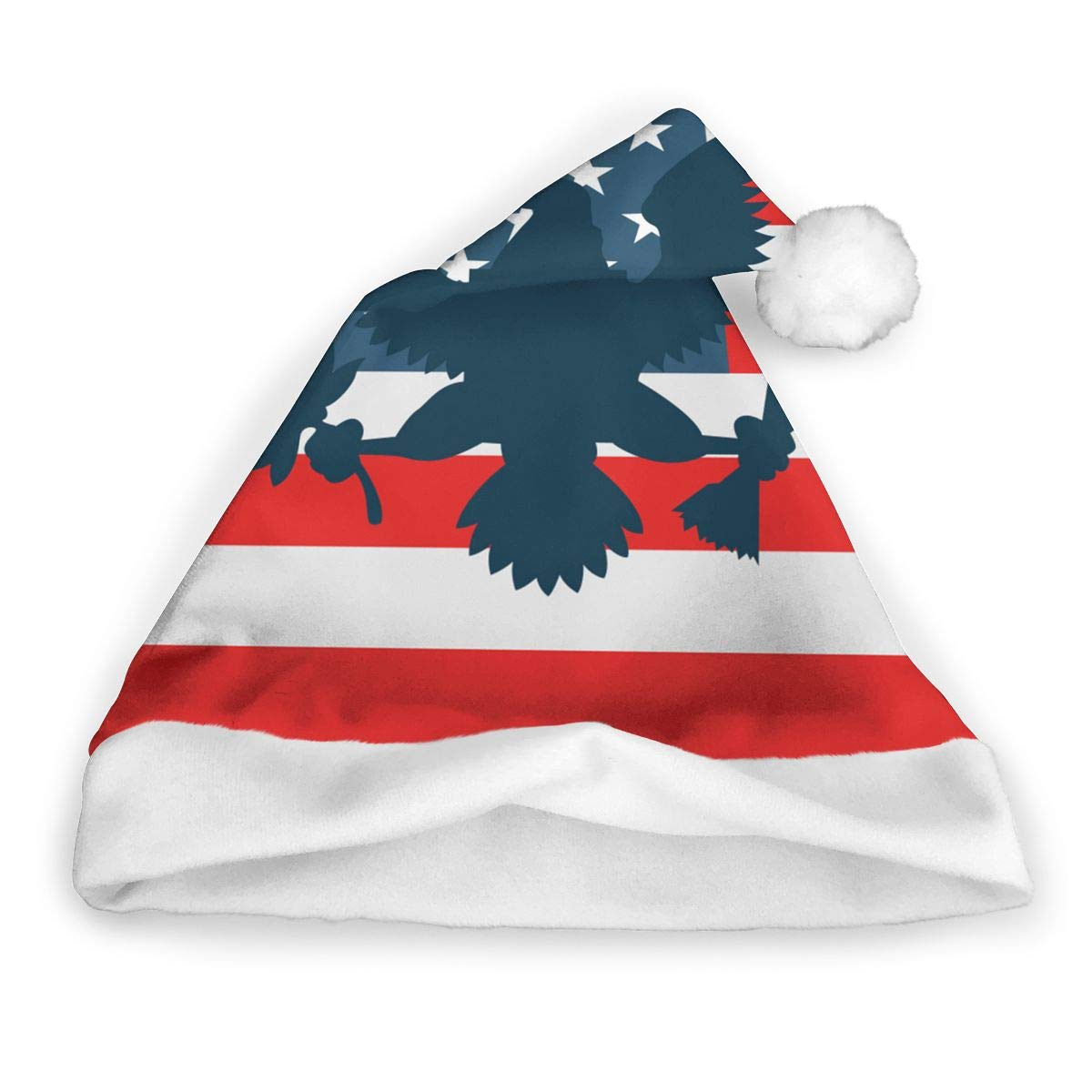 2cf42892508c2 Amazon.com  US Flag Patriotic Eagle Christmas Santa Hat New Years Party  Holiday Novelty Hat Xmas Decoration for Adults   Children  Clothing