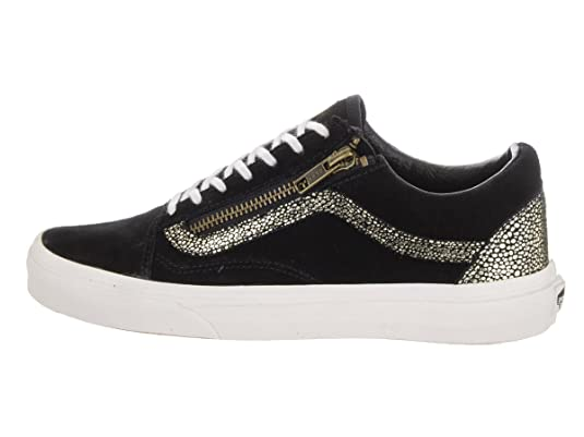 Vans Womens Gold/Blanc De Blanc Old Skool Zip Trainers: Amazon.ca: Shoes &  Handbags