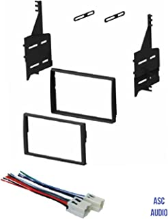amazon com asc audio car stereo radio install dash kit and wire asc car stereo dash install kit and wire harness for installing a double din radio for