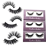 Cuckoo Lashes 100% Handmade 3D Faux Mink Lashes Individual Korean Silk False Eyelashes 3 Pairs per Set Multipack Package for Daily Makeup