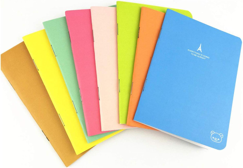 Pack of 8 (3.5''x5'') Candy Colors Pocket Notebook Set Pocket Pal Super Mini Journals Portable Steno Note Books Mini NoteBooks (8pcs)