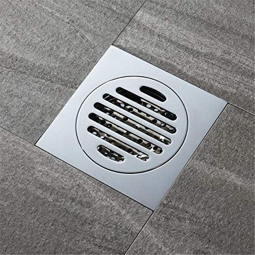 Kuingbhn Bodenablauf Antike Messing Deodorant Bodenablauf Badezimmer WC Großes Displacement Insect-Proof Kupfer Bodenablauf 120x120x45mm für Badezimmer Dusche Zimmer Toilette Wäscherei Ga