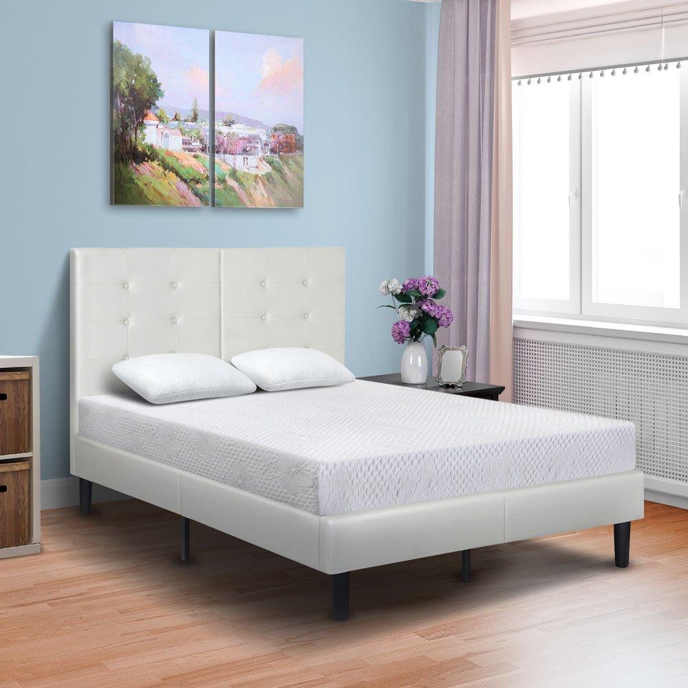 PrimaSleep 8 Inch Premium Cool Gel Multi Layered Memory Foam Bed Mattress, Twin