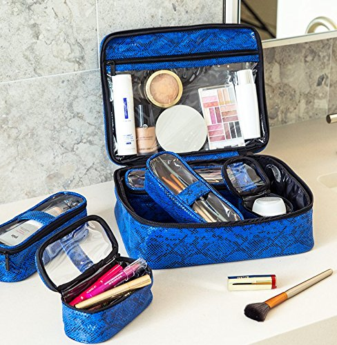 PurseN Diva Makeup Travel Organizer Bag Case Blue Allure by PurseN