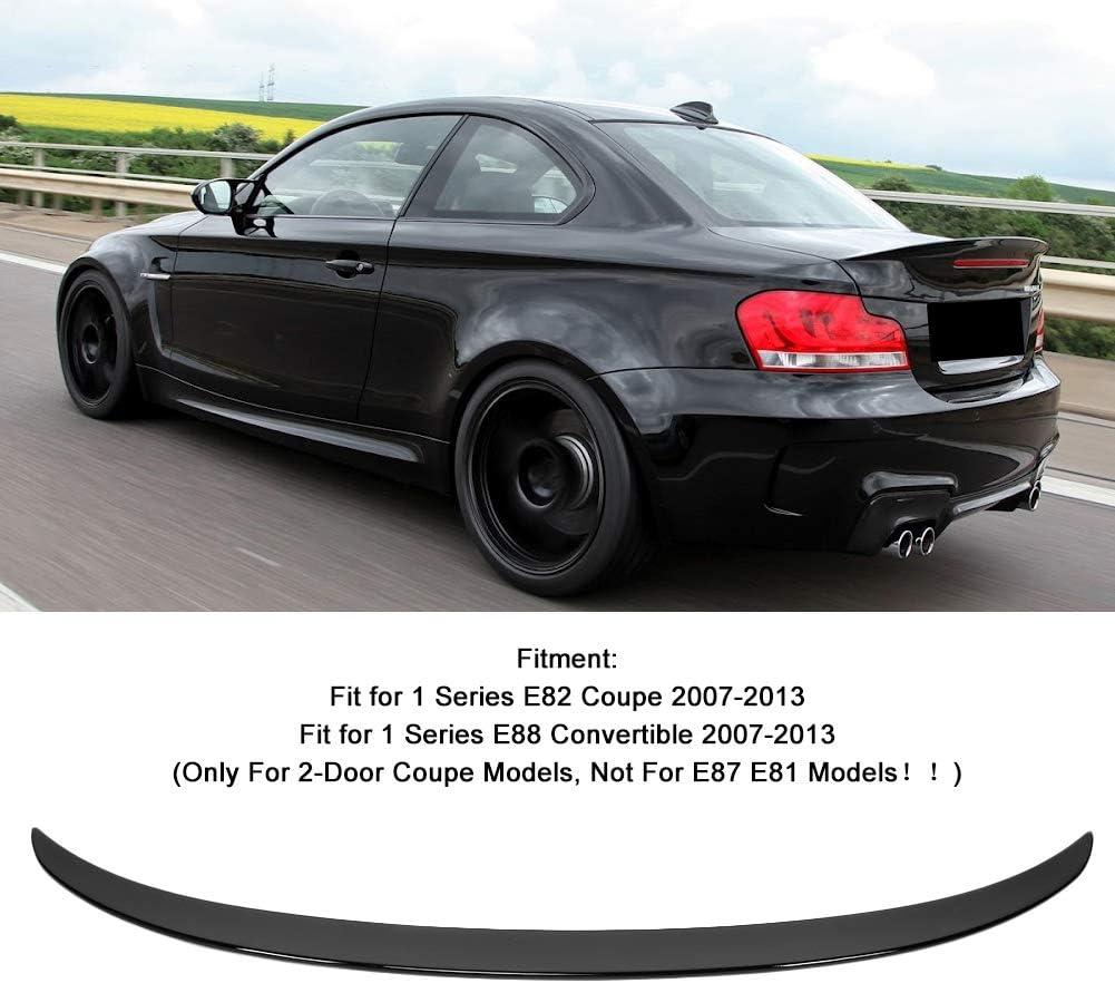 Aukson Spoiler de Couvercle de Coffre arri/ère Noir Brillant pour M Performance Style adapt/é pour 1 s/érie E82 coup/é E88 2007-2013