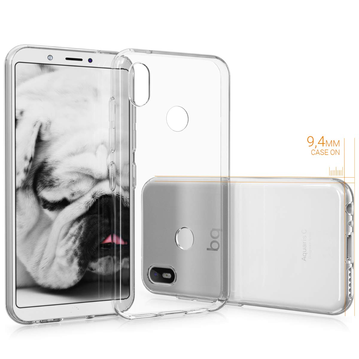 Amazon.com: kwmobile Crystal Case for bq Aquaris C - Soft ...