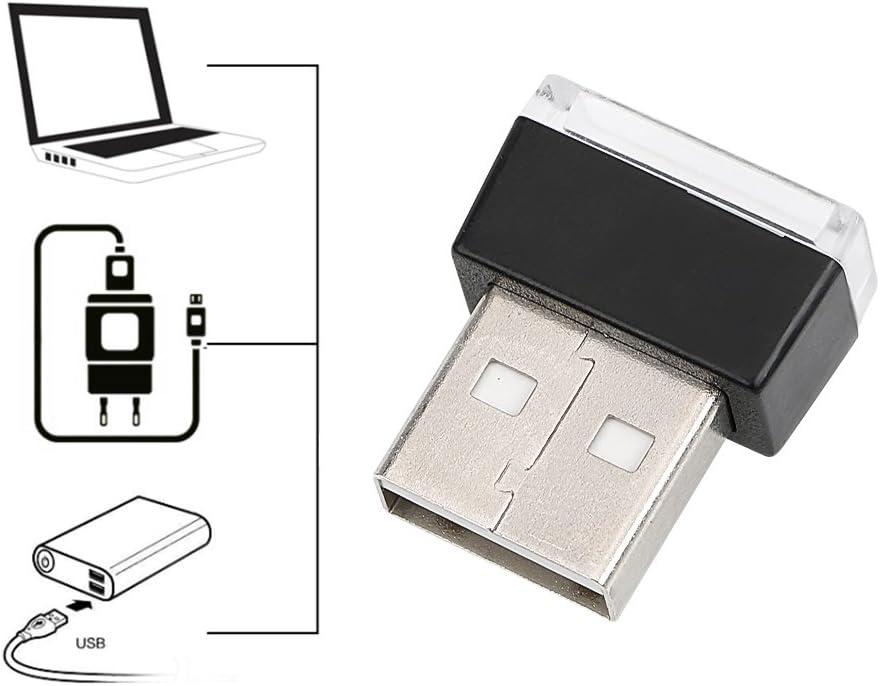 Int/érieur de voiture lumi/ères Atmosph/ère d/écoratifs Port USB Lampes /à LED Violet
