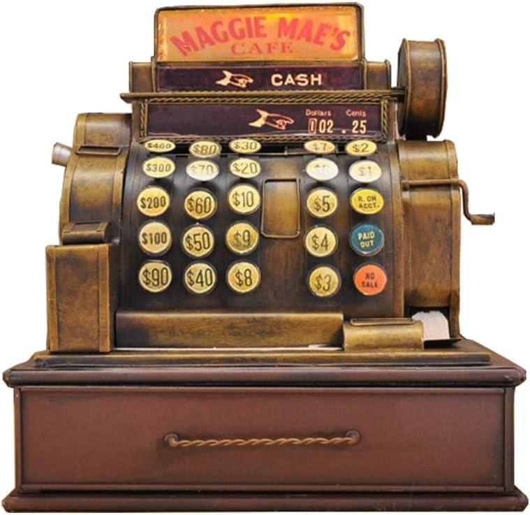Retro Antiguo Modelo De Caja Registradora, Decoración Suave para El Hogar, Restaurante, Decoración De Bar, Manualidades, Cumpleaños, Navidad