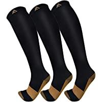 3 Pack Copper Compression Socks - Compression Socks Women & Men Circulation - Best for Medical,Running,Athletic