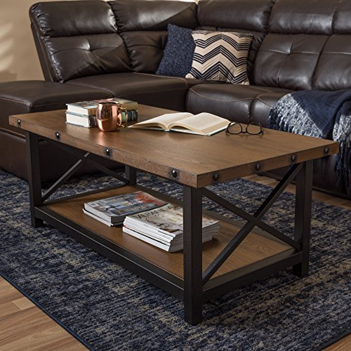 Baxton Studio Coffee Table in Black and Brown