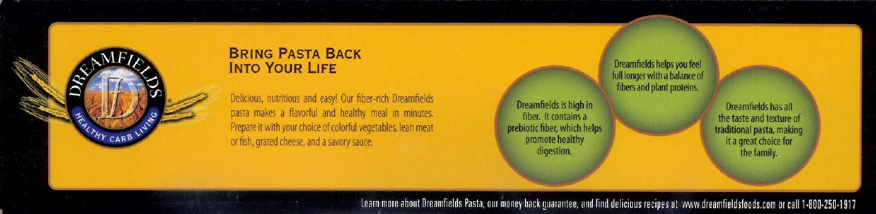 Dreamfields Pasta Angel Hair, 13.25 Ounce Boxes (Pack of 20)