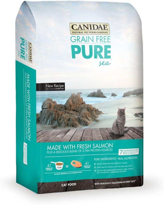 Canidae Grain Free Pure Sea Cat Dry Formula With Fresh Salmon, 4 Lbs