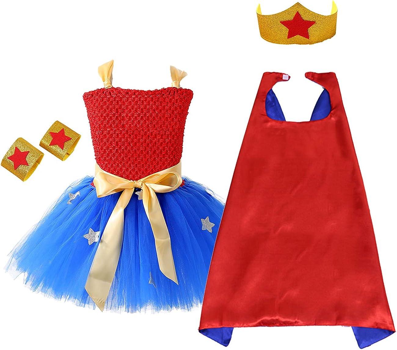 Superhero Halloween Girl Costume Super girl  Costume Superhero Birthday Dress