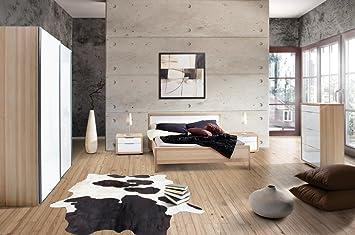 Camera Da Letto Bianco Lucido : Camera da letto matrimoniale componibile completa color frassino e