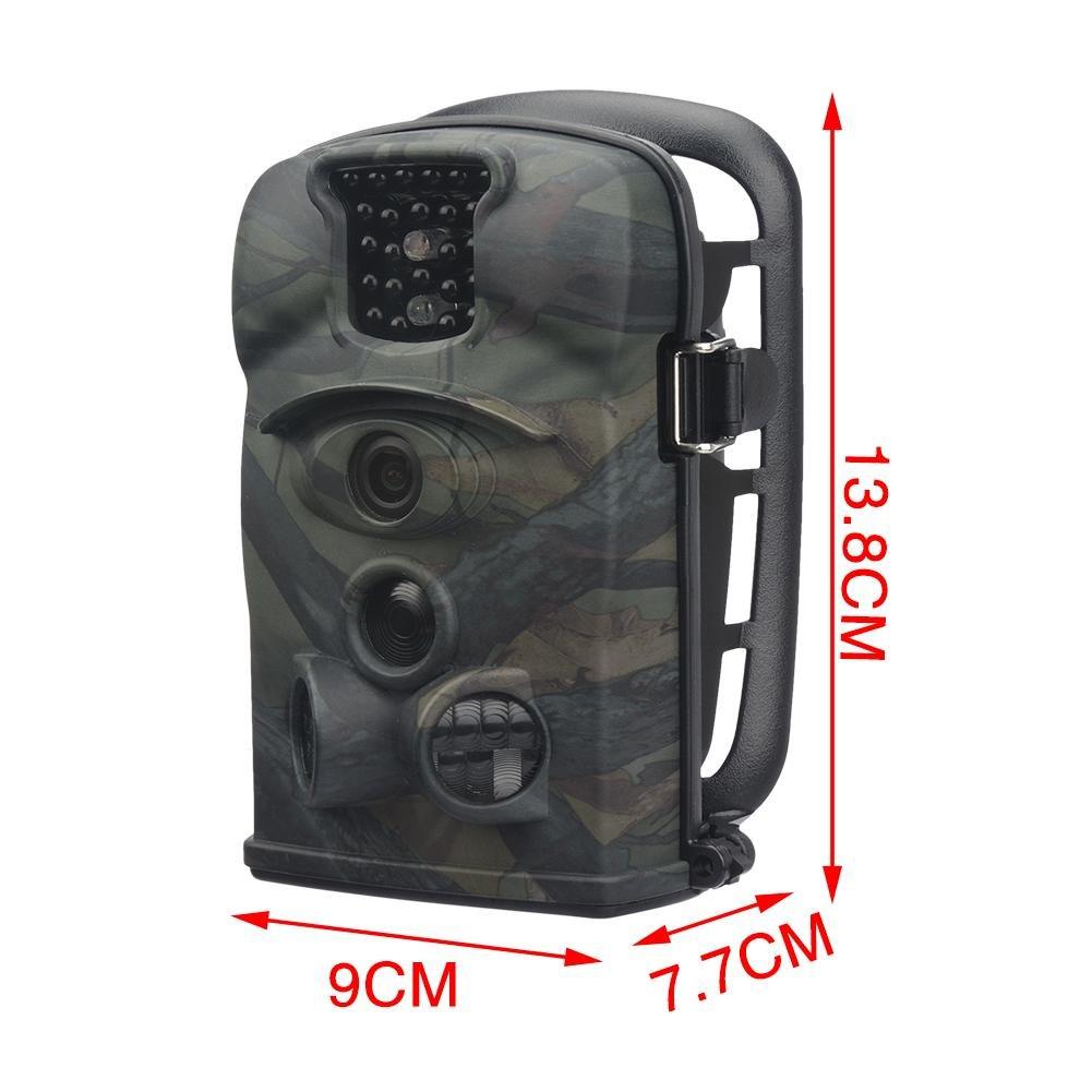 12 Mp 720P HD cámara de caza Agua Densidad Wild Cámara con detector de movimiento Wild Cámara Foto Vivienda 120 ° amplio Vision 20 m visión nocturna cámara ...
