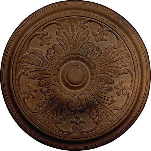 Ekena Millwork CM17VICGS Vienna Ceiling Medallion, Copper Green Patina