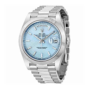7cee236deee Amazon.com  Rolex Day-Date Automatic Ice Blue Dial Platinum Men s ...