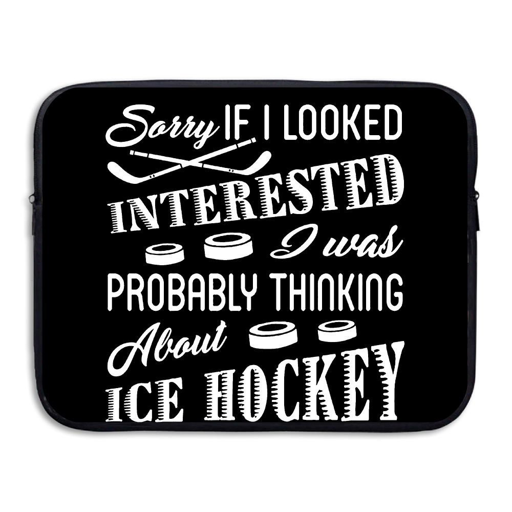 Summer Moon Fire Love Ice Hockey Briefcase Handbag Case Cover For 13-15 Inch Laptop, Notebook, MacBook Air/Pro