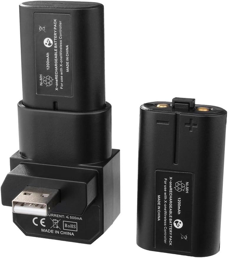 XCSOURCE® Xbox One Controlador 400mAh batería Recargable Dual + ...