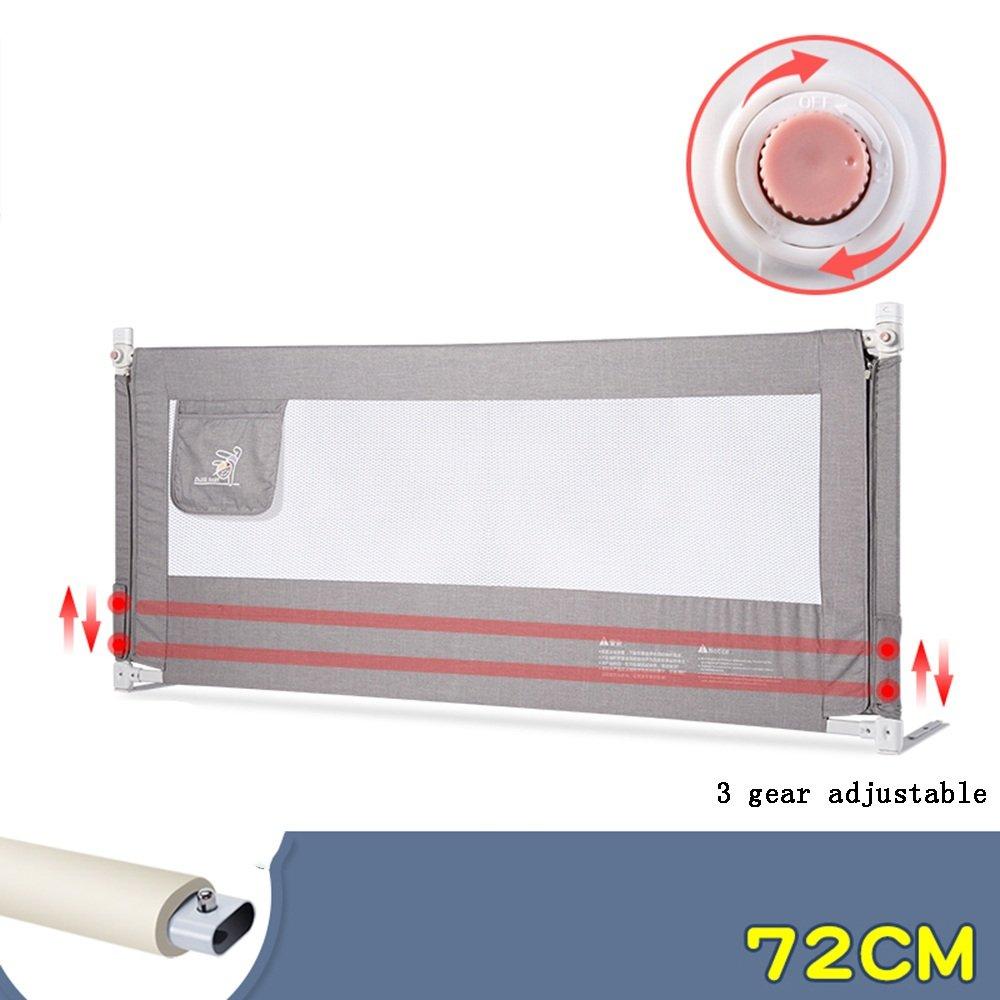 ZR- フェンス\ 子供用ベッド フェンス 落下 ベッドガードレール バッフル 安全性 垂直 リフト ベッドガードレール 120\150\180\200cm (色 : Gray-200*72cm)  Gray-200*72cm B07DPCB42Q