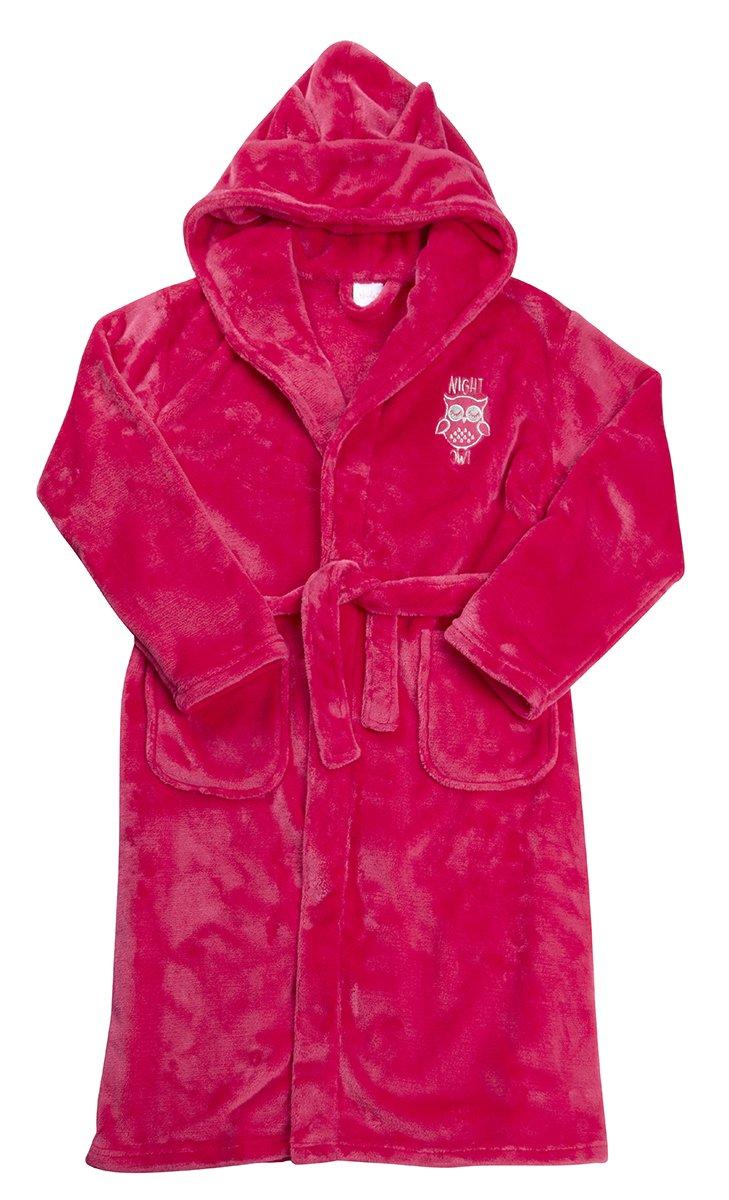 Girls Hooded Novelty Flannel Fleece Dressing Gown 4Kidz