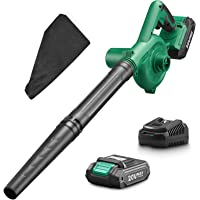 KIMO Cordless Leaf Blower, 2-in-1 Handheld Vacuum/Sweeper, 150 MPH, Variable Speed, w/2.0 Ah Li-ion Battery & Charger…
