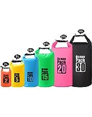 2 L/5 L/10 L/15/20/30 L 500D heavey-duty Bâche PVC Sac étanche Dry Bag Sac pour kayak/bateau/Canoeing/Pêche/Camping/Piscine/Rafting/Snowboard