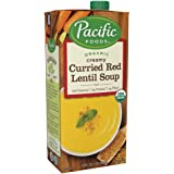 Pacific Foods Organic Curried Red Lentil Soup, 32oz, 12-pack