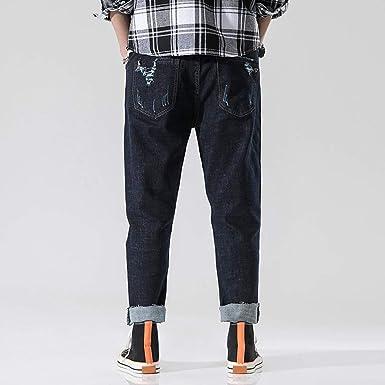 Geilisungren Vaqueros para Hombre Jeans Pantalones de Mezclilla ...