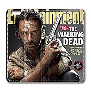 iCustomonline Leather Case for iPhone 6 Plus, The Walking Dead Rick Stylish Durable Leather Case for iPhone 6 Plus hjbrhga1544