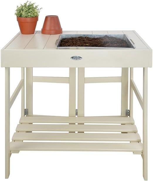 Nueva jardinería plantar mesa banco de jardín trabajo estación de plantación patio de madera de almacenamiento estante de madera & E libro por Cumbre casa tienda: Amazon.es: Jardín